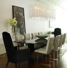glass chandeliers for dining room lighting contemporary long