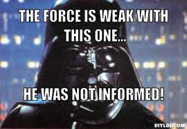 Darth Vader Meme Generator - resized lao vader meme generator the force is weak with this one he
