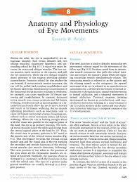 The Anatomy And Physiology Of The Eye Anatomy And Physiology Of Eye Movements Springer