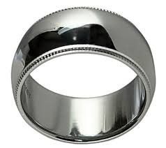 qvc wedding bands sterling silver 10mm milgrain unisex wedding band ring page 1