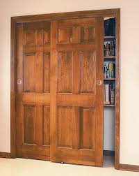 Wood Closet Doors Sliding Closet Door Lock On Wood Sliding Closet Doors Home