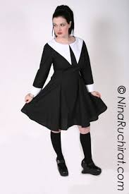 Halloween Costume Wednesday Addams Gothic Dress Wednesday Addams Dress Aline Black