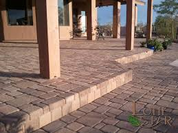 Simple Paver Patio Pavestone Tone Brown Standard Pavers In Courtyard In Desert Images