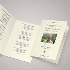 funeral booklet funeral order of services copycats