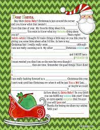 Thanksgiving Madlib Santa Letter Inkhappi