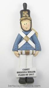 west point cadet ornament or by bertsclaycreations