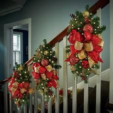 Lighted Window Box Christmas Decorations by 3 1 2 U0027 Lighted Natural Look Window Box Christmas Swag