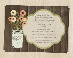 country bridal shower ideas country jar bridal shower invitations wedding flowers set