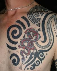 tattoos com tribal chest tattoos pictures