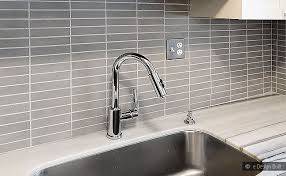 GRAY LONG SUBWAY MOSAIC BACKSPLASH Backsplashcom - Modern backsplash tile
