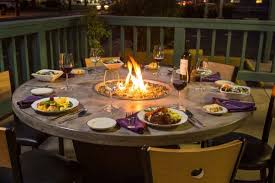 Patio Table With Firepit Introducing Firepit Tables A Fiery Combination Of Functions