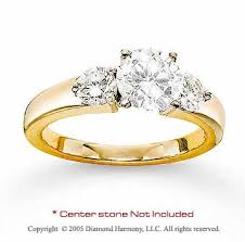 engagement ring gold yellow gold side prong diamond engagement ring