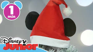 christmas craft tutorials mickey santa hat disney junior uk