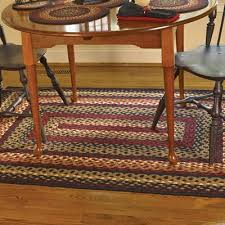 Braided Throw Rugs Braided Area Rugs And Coir Doormats For Country Style Home Decor