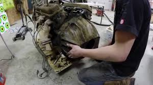 removing the bellhousing from a chevy 350 youtube