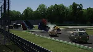 bugatti crash gif reliant robin race simulation 95 octane