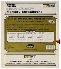 Scrapbook Inserts Amazon Com Postbond Top Loading Page Protectors 5 Pkg 8 5