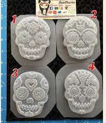 sugar skull molds sugar skulls molds resin clay candy molds soap molds