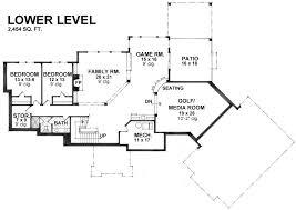 house plans with media room hazelnut 9681 3 bedrooms and 3 5 baths the house designers