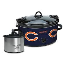 Little Kitchen Chicago by Pot Cook U0026 Carry Chicago Bears 6 Quart Slow Cooker Set