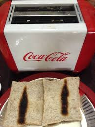 Logo Toaster I Just Realized Our Coca Cola Toaster Burns A Bottle Logo On The