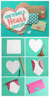 How To Fold Paper For Envelope Heart Shaped Envelopes A And A Glue Gun