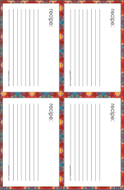 recipe cards download free printable recipe card templates