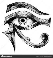 eye horus moon eye thoth stock illustration stock vector