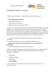 questions and answers to google adwords advanced display exam by digi u2026