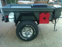 jeep camping ideas securing a propane tank to the outside of a trailer expedition