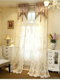 Embroidered Sheer Curtains Embroidered Sheer Curtains Ideawall Co