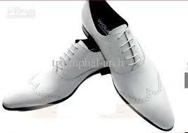 wedding shoes europe woufo white wedding shoes men s genuine leather fashion