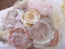 fabric flowers diy wedding fabric flowers paint pearls mirror paint the