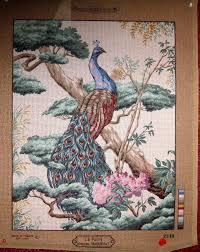 margot peacock needlepoint canvas 50 dmc colbert wool 20 x