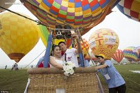 Seeking Balloon Couples In A Ceremony Held In Air Balloons