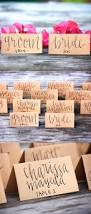 Kraft Paper Table Cloth Place Card Wedding Decor Ideas Wedding Place Cards Tent Fold