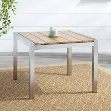 Square Patio Table by Macon Square Teak Outdoor Dining Table Natural Teak Outdoor