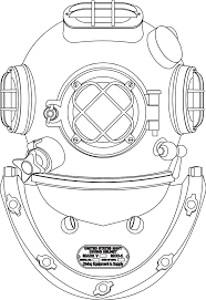 casco palombaro diving coloring book svg colouringbook org