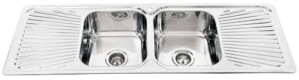 Double Kitchen Sink With Drainer Victoriaentrelassombrascom - Double drainer kitchen sink