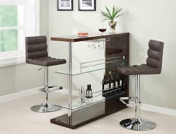 Kitchen Bar Table With Storage Modern And Exquisite Curved Home Bar Table Set Black High Gloss
