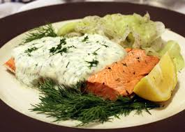 dill mustard poached salmon with dill mustard sauce home sweet jones