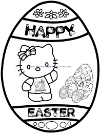 easter hello kitty coloring pages printable coloring pages photo