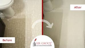 Grout Cleaning And Sealing Services This Bathroom Floor In Marietta Ga Had A Totally New Look After A