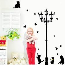 Decoration Cat Wall Decals Home by Home Sticker Lamp Promotion Shop For Promotional Home Sticker Lamp