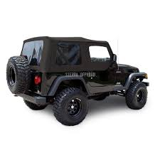 jeep wrangler tj top 03 06 tinted windows upper doors black
