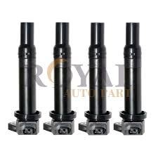 cool great pack of 4 new ignition spark coils for hyundai accent