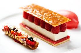 cuisine dessert dessert1 crab cakes raspberry sorbet panna cotta