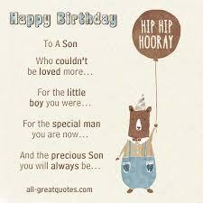 special son birthday card birthday card greeting free birthday