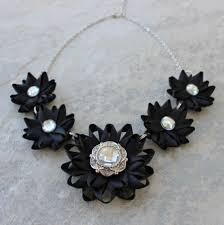 black flower necklace images Black statement necklace black flower necklace black necklaces jpg