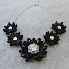 bridesmaid statement necklaces black statement necklace black flower necklace black necklaces